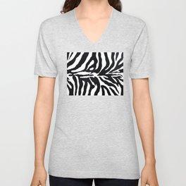 Zebra print Unisex V-Neck