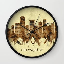Lexington Kentucky Cityscape Wall Clock