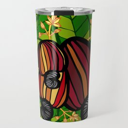 Tropical Cashew Leaves Travel Mug