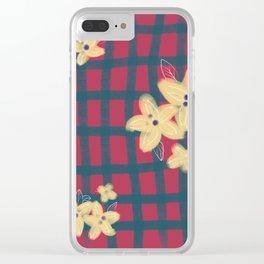 Scottish flower Clear iPhone Case