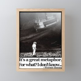 Fitzcarraldo Quote Framed Mini Art Print