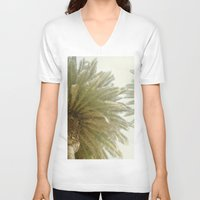 palm trees V-neck T-shirts featuring Palm Trees by The ShutterbugEye