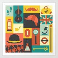 sherlock Art Prints featuring Sherlock by Ariel Wilson