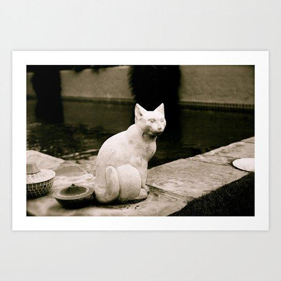 Concrete Cat Art Print