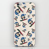 snowboard iPhone & iPod Skins featuring Too Cool to Penguin by Schwebewesen • Romina Lutz