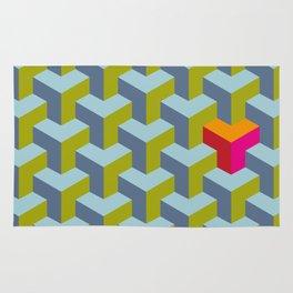 Be yourself - geomtric op art pattern Rug