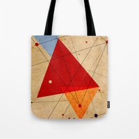 jazzberry Tote Bags featuring knot by .eg.