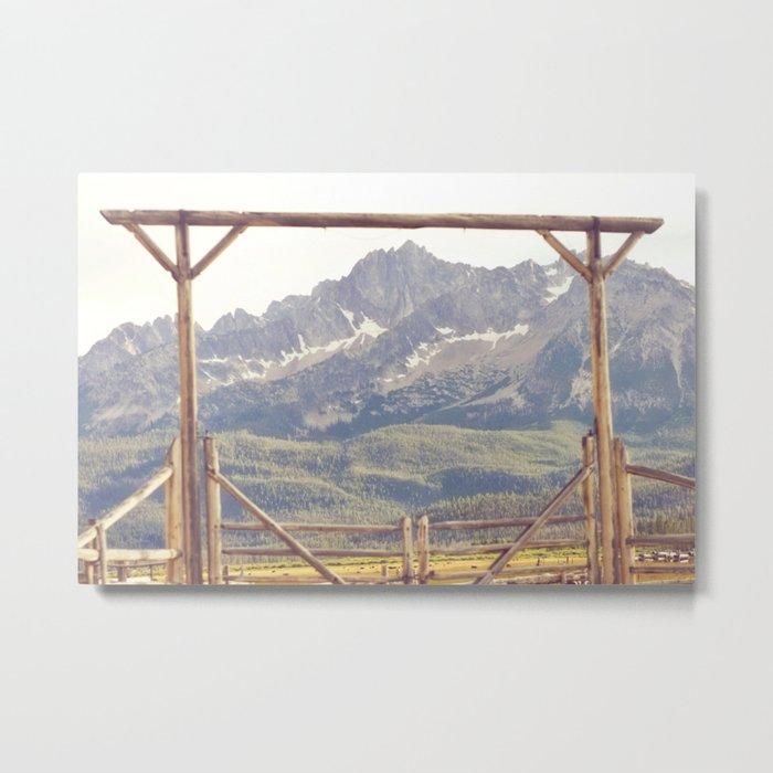 Western Mountain Ranch Metal Print