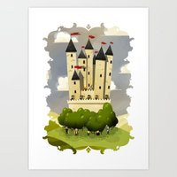 robin hood Art Prints featuring Robin Hood by Reuno