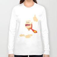 donkey kong Long Sleeve T-shirts featuring Donkey Kong - Minimalist - Nintendo by Adrian Mentus
