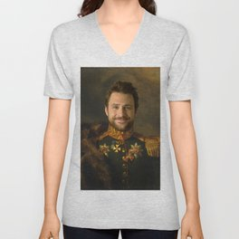 Charlie Day Classical Regal General Painting Unisex V-Neck