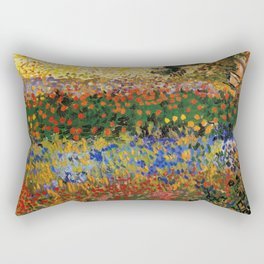 Garden in Bloom, Arles, Vincent van Gogh Rectangular Pillow
