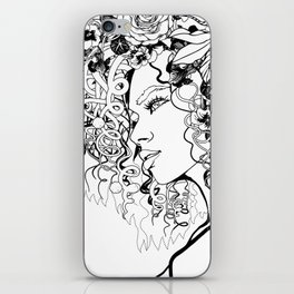 With Flowers in Her Hair No. 5 iPhone Skin