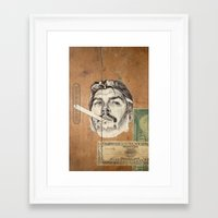 che Framed Art Prints featuring Che by Jason Ratliff