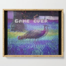 peacock game over Serving Tray