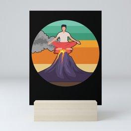 Yoga Meditation for Cliff Lover Mini Art Print