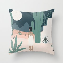 sonoran siren Throw Pillow
