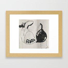 closed/open Framed Art Print
