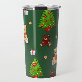 Teddy bears Christmas pattern decoration Travel Mug