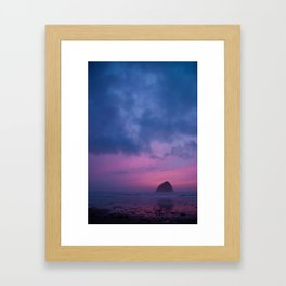 turbulent sunset Framed Art Print