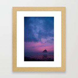 turbulent sunset Framed Art Print