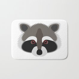 Raccoon Face Bath Mat