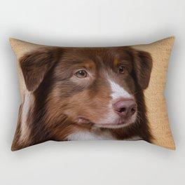 Australian Shepherd  Aussie Digital Art Rectangular Pillow