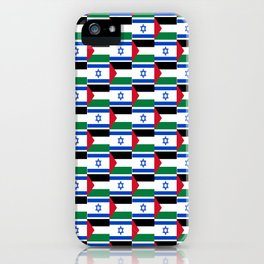 Mix of flag: Israel and Paslestine iPhone Case
