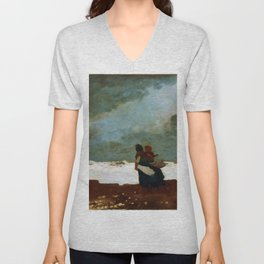 Two Figures By The Sea - Digital Remastered Edition Unisex V-Neck