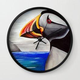 Puffin at Ailsa Craig Wall Clock