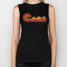 Retro Style Huntington West Virginia Skyline Biker Tank