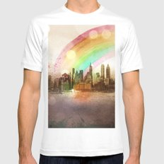 NYC Sky MEDIUM White Mens Fitted Tee