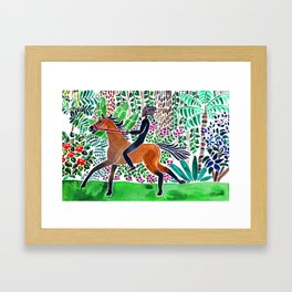 Bush Ride Framed Art Print