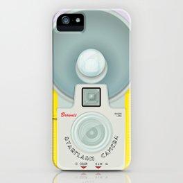 VINTAGE CAMERA YELLOW iPhone Case