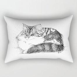 Maine Coon Cat - Pen and Ink Rectangular Pillow