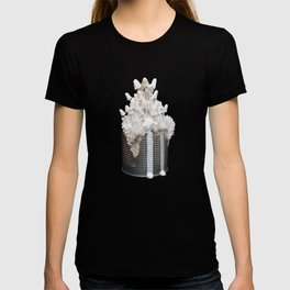 I Can : Doubt, White Mushrooms on Tin Can T-shirt