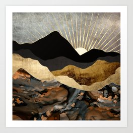 Copper and Gold Mountains Art Print