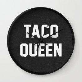 Taco Queen Wall Clock