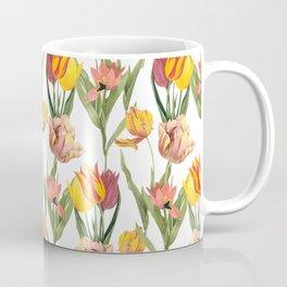 Vintage Floral Pattern | No. 3B | Tulips Coffee Mug
