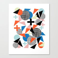 Kimbah - abstract art print shapes modern geometric retro cool colorful hipster gift idea dorm room  Canvas Print