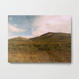 Golden hues | Cloud landscape Metal Print