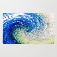 van gogh Area & Throw Rugs featuring Wave to Van Gogh by David Lee