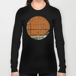 Buenos Aires city map orange Long Sleeve T-shirt