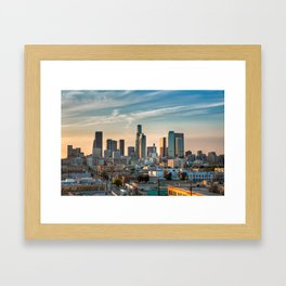 LA Skyline Framed Art Print