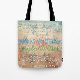 Sparrows & Lilies Tote Bag