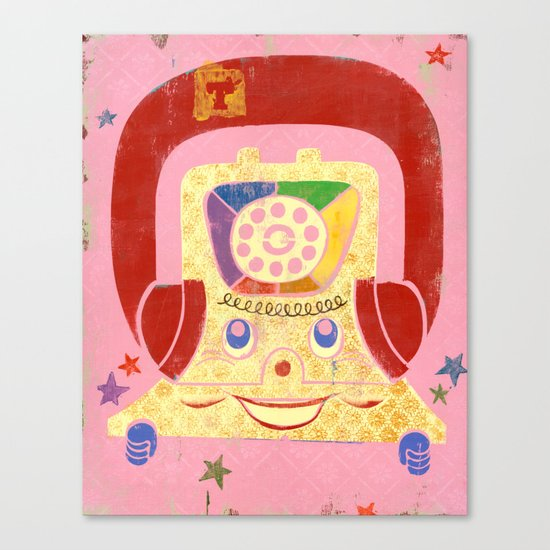 T is for Telephone Canvas Print