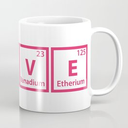LOVE (chemical symbols) Coffee Mug