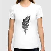feather T-shirts featuring feather by Nastya Bo
