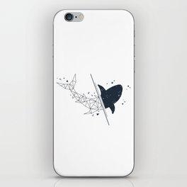 Shark. Geometric style iPhone Skin
