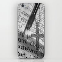 bible iPhone & iPod Skins featuring Multilingual Bible Study by Clayton Jones